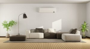 ductless-unit-up-on-wall-in-modern-home